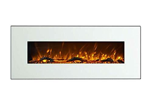 Art Flame Chimenea eléctrica Madrid LED blanco, potencia 1500 W, para colocar en la pared, llama multicolor