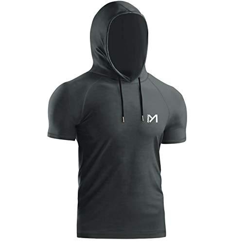 MEETYOO Camiseta Hombre, Manga Corta Camisetas Deportiva T-Shirt para Running Fitness Gym