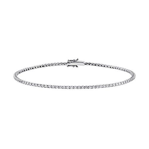 Salvini bracciale tennis oro bianco diamanti 0.23 ct 19.50 cm 20057215