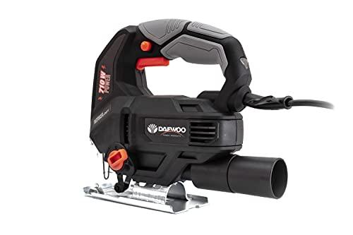 Daewoo Sierra de calar DAJS750Y, 710 W, máx. 65 mm, electrónica, cambio de hoja de sierra sin herramientas, para cortes de inglete de hasta 45° grados