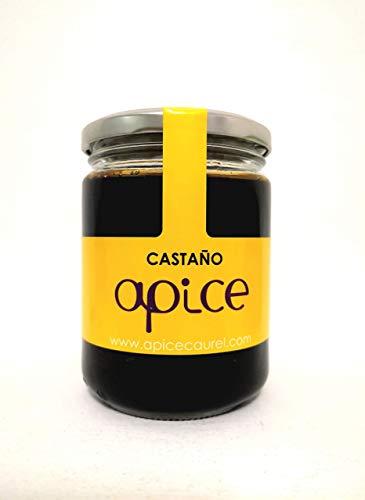 MIEL ÁPICE | Miel de castaño pura 100{122e81752e7820d335b34b0dc823617c7971bcc7042d7580084f64ac739fbadc} natural | 500 g | Producida en Galicia | Miel gallega sin conservantes, sin calentar y ecológica | Completamente artesanal | Miel de Galicia