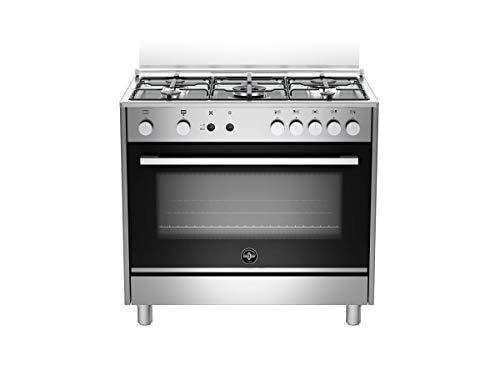 Cucina a gas con forno a gas ventilato, N° 5 Fuochi, 90x60 cm