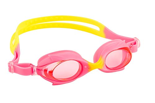 maru Unisex-Youth AG5618 Schwimmbrille, Pink/Gelb, Einheitsgröße