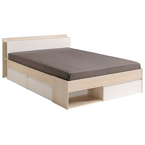 Parisot 1530l240Bett–Most Bett 2m/1M9x 140Akazie CL Holz
