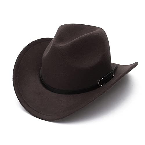 hat GEMVIE 2021 VENTA FEDORA Sombreros de verano para hombres Mujeres Algodón Sombrero Sol Clastico Unisex Vaquero Sombrero con estilo Sombreros de verano sombrero ( Color : Coffee , Size : 56 58cm )
