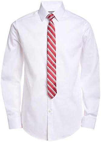 Van Heusen Boys Big Long Sleeve Dress Shirt and Tie Set White Poplin 14 16 product image