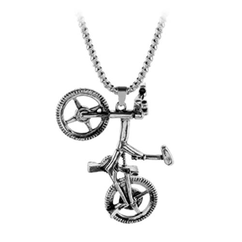 KTZM Collana con Ciondolo in Lega di ciondoli per Bicicletta Sportiva Regalo per Gioielli Sportivi Rock da Donna