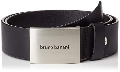 Ledergürtel Herren / Gürtel Herren Bruno Banani, Rindleder schwarz, 30009, Größe / Size:110;Farbe / Color:schwarz