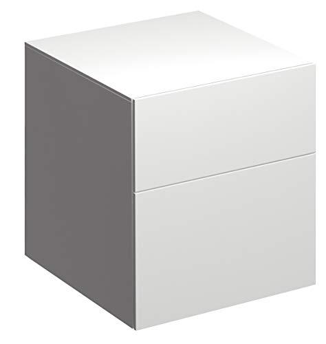 Keramag Xeno² Seitenschrank 45 cm Weiß, Lack Hochglanz