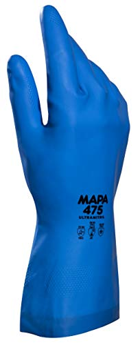 Black 0.040 Thickness 18 Length Mapa Professional 286311 Size 11 18 Length Chemical Resistant MAPA Trident 286 Natural Latex Glove 0.040 Thickness