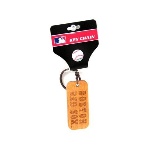 MLB Boston Red Sox Wood Keyring