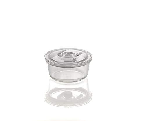 CASO VacuBoxx RM - rund 620ml - hochwertiger Design Vakuumbehälter, BPA-Frei, mikrowellengeeignet, hitzebeständig, spülmaschinengeeignet