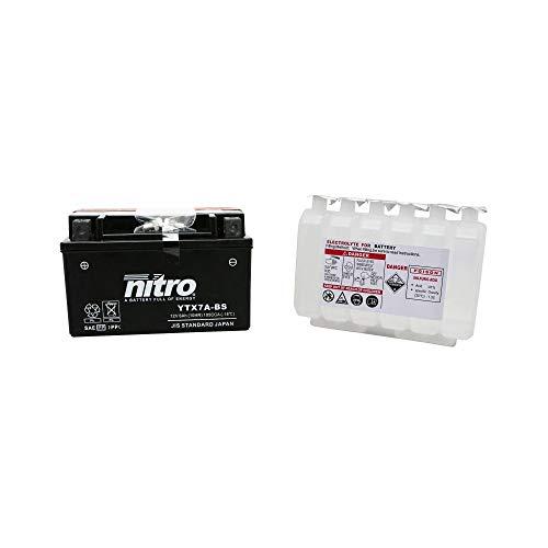 Nitro accu, 12 V, 6 Ah, Ytx7a-bs, onderhoudsvrij, levering met zuur (lg150 x l87 x h93)