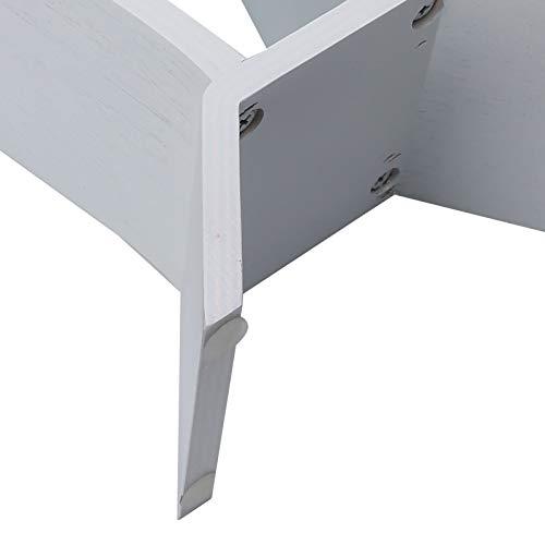 Soporte de madera para auriculares, soporte para auriculares de tamaño pequeño de estilo moderno, soporte de exhibición de auriculares antideslizante, ecológico para oficina en casa(white, blue)