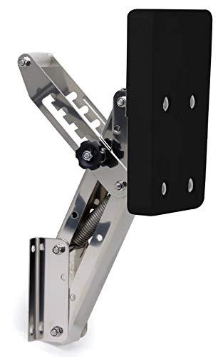 wellenshop Motorhalter Boot Außenborder bis 7 PS 5 Positionen Edelstahl Kunststoff schwarz