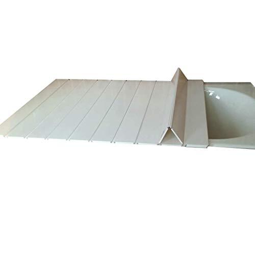 YGG-Bathtub Badewannenabdeckung Staubdichtes Brett Faltbare Badewanne Isolierabdeckung PVC-Halterung Badewanne Badewannenabdeckung Badewannenablage Badablage (Größe : 165 * 70 * 0.6cm)