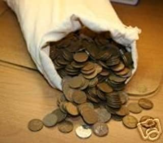 1919 Lincoln Wheat Cent Roll 50 Circulated Pennies US Coins