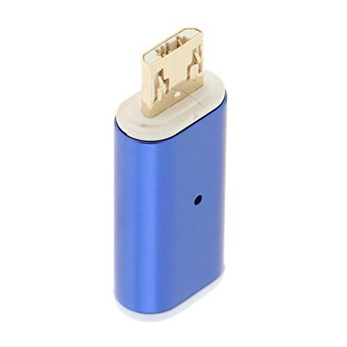 balikha Convertidor Magnético Tipo C a Micro USB Adaptador Convertidor USB-C para - Azul