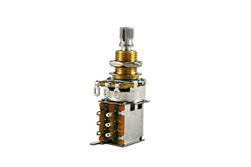 Allparts EP-0283-000 CTS Push Potentiometer, 250K, logarythmisch