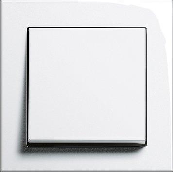 GIRA Serie E2 Komplett-Sets - reinweiß glänzend (1x Wechsel-Wippschalter, 1x Rahmen 1fach, 1x Wippe)