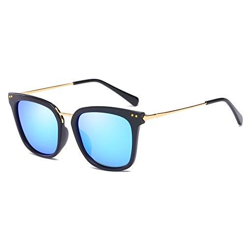 Cyxus Óculos de Sol Mulheres Gatinho Proteção UV Polarizada Condução Óculos de Sol para Pesca Equitação Ao Ar Livre (Azul Lente)