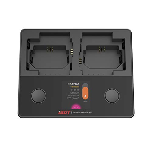 ISDT NP-FZ100 NP-FW50 NP-BX1 Kamera Akku Dual Ladegerät für Sony DSC-RX100, DSC-RX100 II, DSC-RX100M II, DSC-RX100 III, DSC-RX100 V, DSC-RX100 IV, HDR-CX405