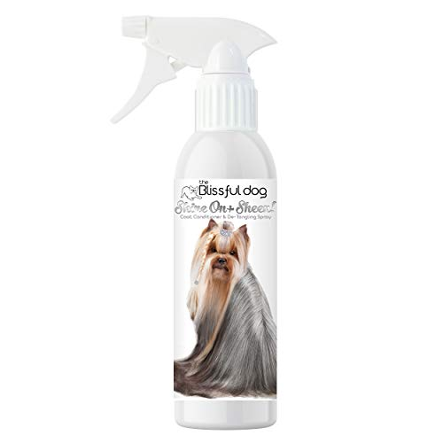 The Blissful Dog Shine-On + Sheen Coat Spray, All Natural, Leave-in Conditioner and Coat Detangler for Your Dog, 16 Oz