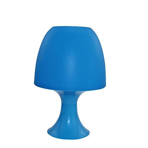 Velamp Mesa. Lámpara de Noche. Ideal para Lectura, Dormitorio, Muebles Toma E14, Azul, Turquesa