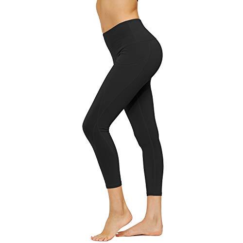 HMIYA Damen Leggings, Lang Frauen Sporthose Yogahose Blickdicht Fitnesshose(Schwarz,M)