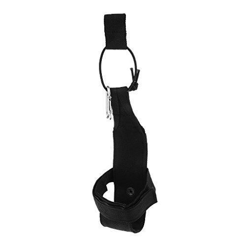 F Fityle Molle Ligero Portabotellas de Agua para Deportes Bolsa de Transporte - Negro
