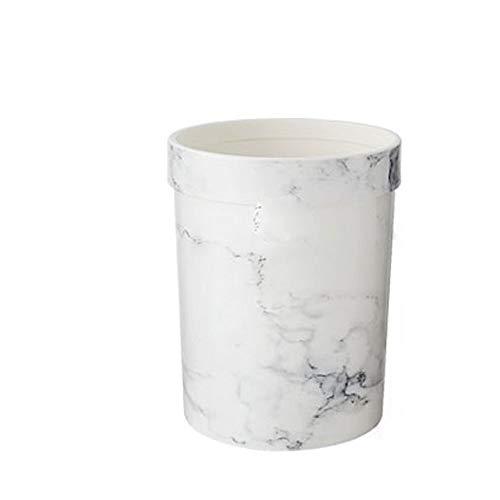 Hanpiyigljt Cubo Basura Extraible, Patrón de mármol de plástico de la cocina sin lidle de la basura (20.6 * 26.2   30cm, 23.5 * 31cm   25.5 * 36 cm) Nordic Simple Modern Kitchen Dormitorio Basura de l