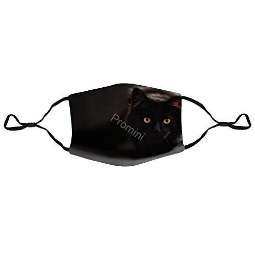 Dozili Gesichtsmasken mit Filterelement, YB-295 Katze, 17,5 x 13 cm, Staubmasken, wiederverwendbare Masken, verstellbare Masken, Gesichts-Mundmasken, Outdoor-Schutzmasken für Jugendliche und Kinder