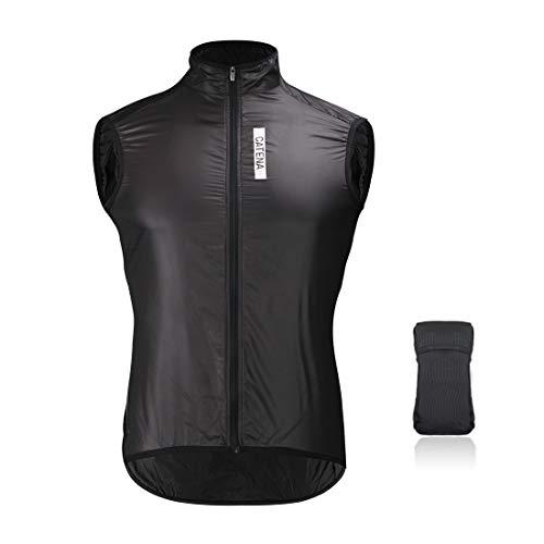 Catena Gilet da Uomo Ciclismo Abbigliamento da Corsa visibilità Gilet di Sicurezza Senza Maniche Antivento Giacca a Vento Attiva