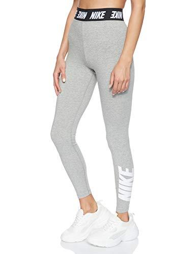 Nike Damen Leggings mit hohem Bund Sportswear Club, Dark Grey Heather/White, M, CT5333-063