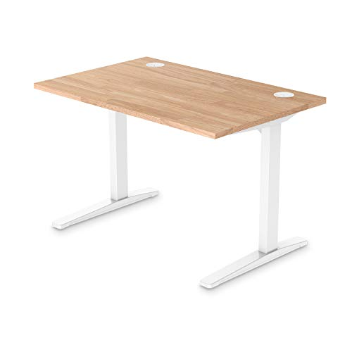 UPLIFT Desk - Natural Rubberwood Solid Wood Desktop