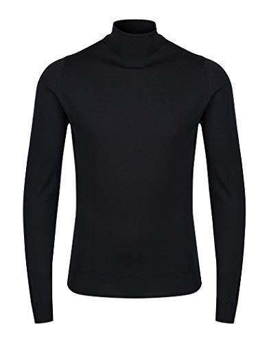 John Smedley Herren Cherwell Pullover, Schwarz (Black), X-Large