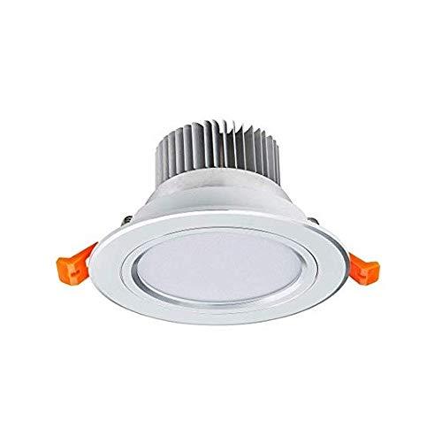 Sprsk Integración fotoeléctrica inteligente Luces de techo empotradas de 3W Focos de baño IP44 for techo Luces de techo de corte de 80 mm Luces blancas cálidas AC110V-240V 2700K Ra≥90 300LM [Clase ene