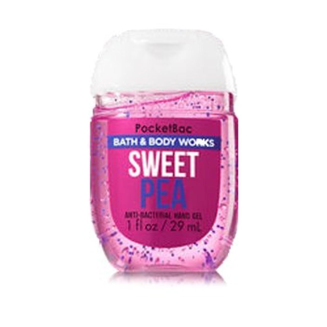 扱うありふれた認可バス&ボディワークス ハンドジェル 29ml スウィートピー Bath&Body Works Anti-Bacterial PocketBac Sanitizing Hand Gel Sweet Pea [並行輸入品]