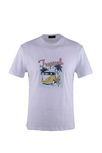 0128Voray Ga Camiseta Hombre algodón Estampado Dibujo Hippie (Blanco, XXXL)