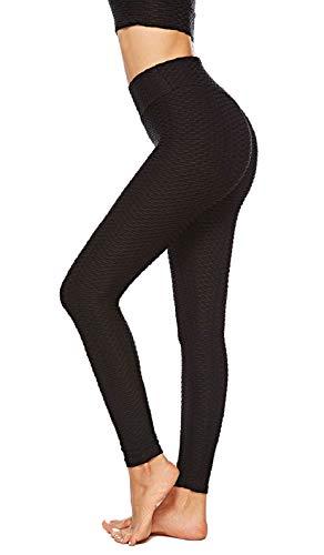 UMIPUBO Chándal deportivo con pantalones + sujetador con combinación gratuita para mujer, ropa deportiva Jacquard, cintura alta, pantalones sujetador transpirable, cómodo B-nero S