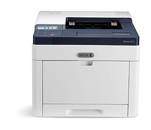Xerox Phaser 6510dni A4 Wireless Colour LED / Laser Printer with Duplex 2-Sided Printing, White/Blue