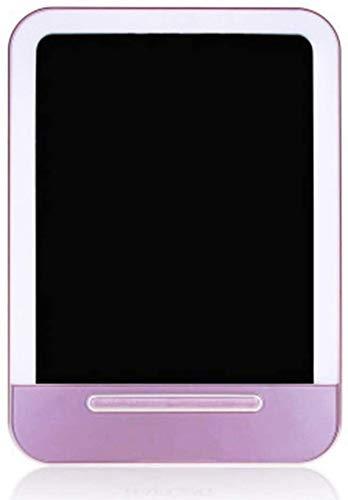 Make-up slaapkamer opbergspiegel Make-up Spiegel LED Ultra-Thin Oplaadbare Touch Type 29 Lamp Kralen ABS Materiaal, Roze, 133 * 73 * 186Mm, Grootte: 133*73*186mm, Kleur: Roze Slaapzaal desktop opvouwbare draagbare bus