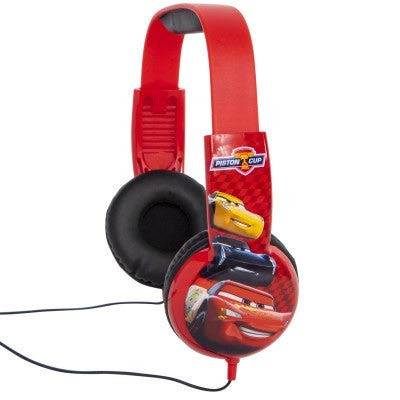 Cars Kids Safe Disney Headphones with Built in Volume Limiting Feature for Safe Listening.