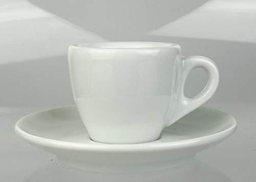Extra dickwandige italienische Espressotasse »Palermo« | Tassenwand: 9 mm | Füllmenge (bis zur Oberkante): 50 ml | handgemacht | 6 Tassen & 6 Untertassen | mit Füllmengen-Markierung | Made in Italy