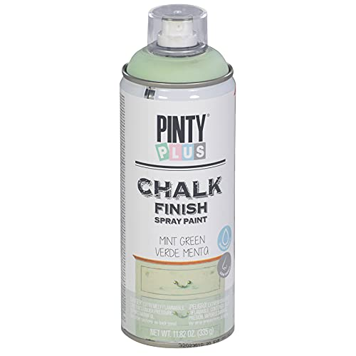 Chalk Finish Spray Paint - 11.8oz Water Based, Fast Drying, Ultra Matte. Made With Real Chalk. Multiple Applications Including Furniture & Arts and Crafts. CK794 Mint Green