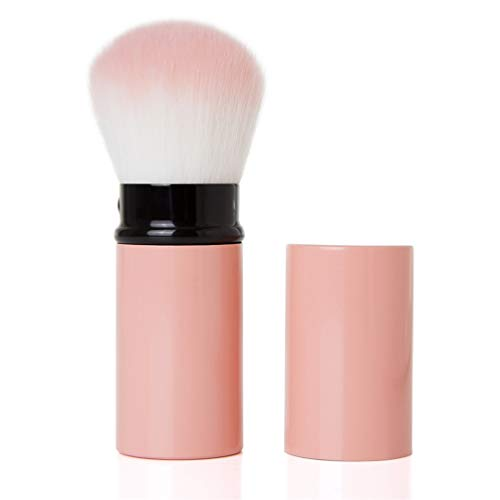 1Pc Couleur Rose Maquillage Professionnel Brosses Rétractable Fard À Joues Fond De Teint Poudre Visage Yeux Anti-Cernes Make Up Brush Avec Couvercle,01