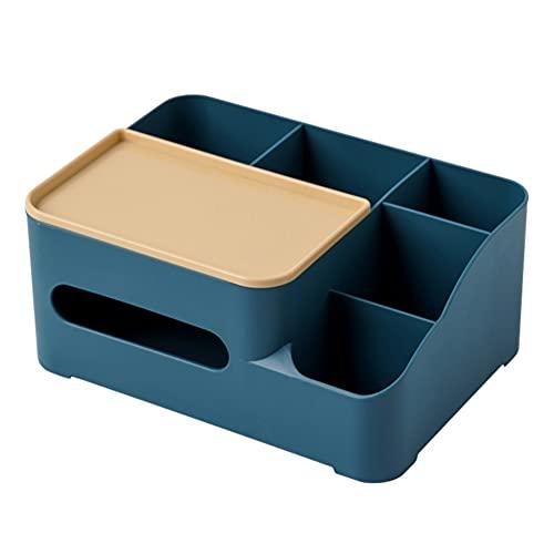 Ghaike Caja de Almacenamiento de Escritorio, Organizador de Caja de Almacenamiento de Escritorio Multifuncional de Oficina en casa, Puede almacenar artículos Diversos, papelería