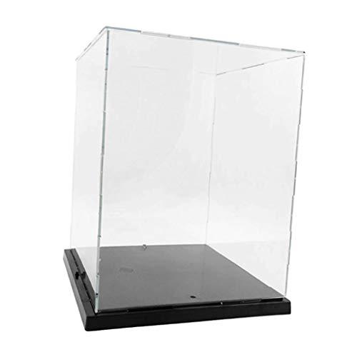 SM SunniMix Acrylvitrine beleuchtet Transparent Acryl Vitrine Schaukasten Display Case Aufbewahrungsbox