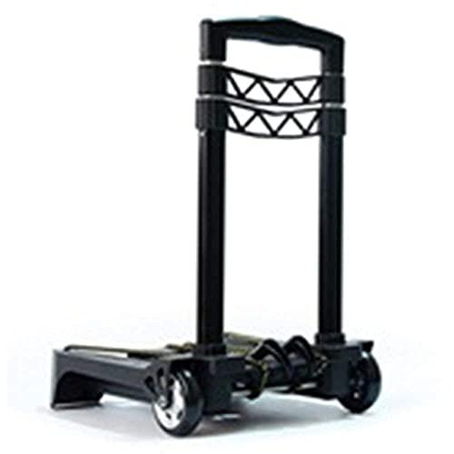 Carretilla plegable plegable portátil ultra ligero multifunción mute trolley coche carrito de compras de equipaje coche de aleación de aleación de aluminio carretilla (Color : Black)