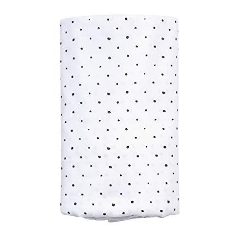 Motherhood Einschlagtuch XXL GOTS zertifiziert aus 100% Bio-Baumwolle, 130 x 130 cm, Kleckse schwarz